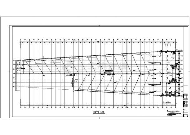 [北京]现代风格冰雪世界滑雪馆建筑施工cad图(知名设计院含效果图)-图二