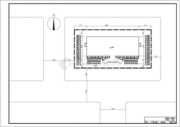 办公楼设计_某地五层办公楼设计CAD图-图一