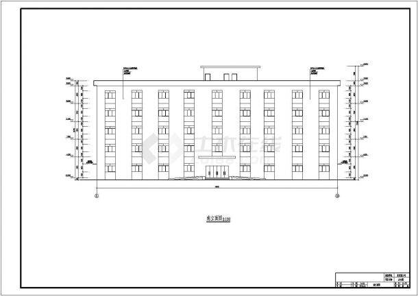 办公楼设计_某地五层办公楼设计CAD图-图二