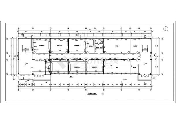 教学楼设计_四层小学教学楼电气施工CAD图-图一
