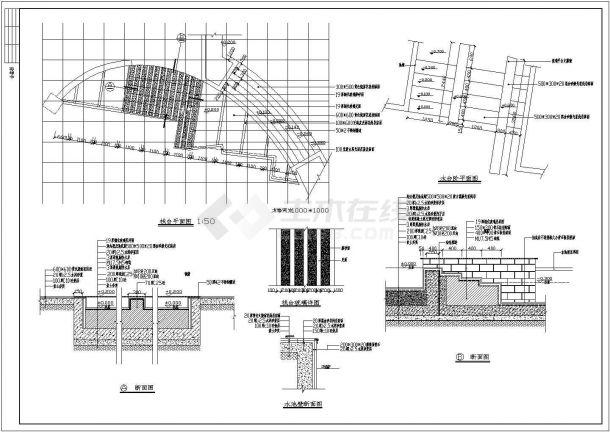 某地景区彩田公园园林环境设计施工全套cad图(含总平面图)-图一