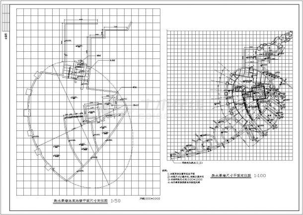 某地景区彩田公园园林环境设计施工全套cad图(含总平面图)-图二