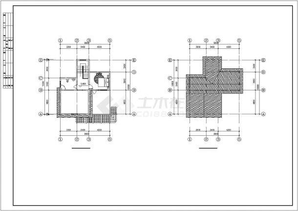 衢州某村镇265平米三层框混结构单体别墅平立面设计CAD图纸(含效果图)-图一
