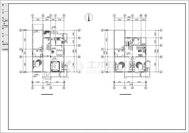 衢州某村镇265平米三层框混结构单体别墅平立面设计CAD图纸(含效果图)-图二
