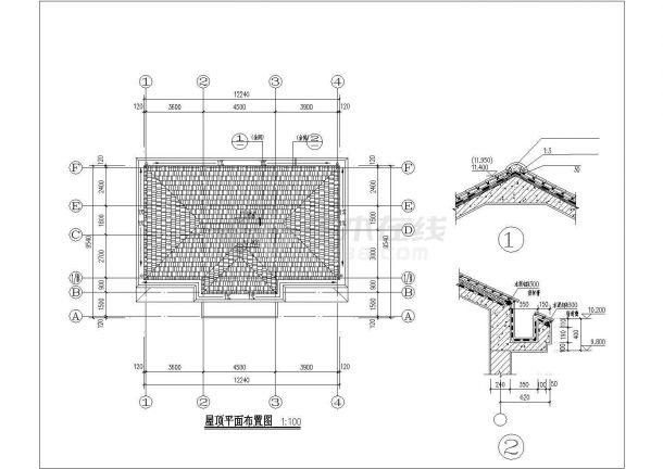 占地140平米3层框混结构单体别墅全套建筑+结构设计CAD图纸-图二