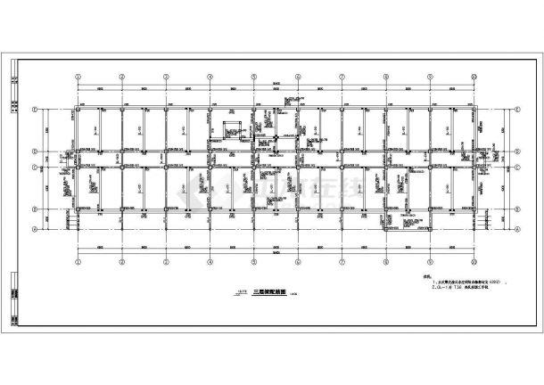 办公楼设计_五层办公楼钢筋砼框架结构设计CAD图-图二