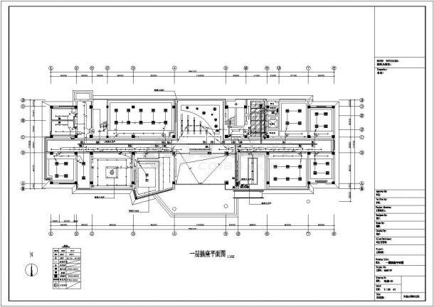 照明设计_五层办公楼照明设计电气施工CAD图-图一