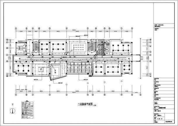 照明设计_五层办公楼照明设计电气施工CAD图-图二
