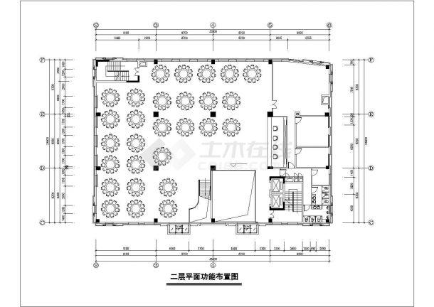 1.3万平米7层框混结构商务酒店全套平面装修施工设计CAD图纸-图二