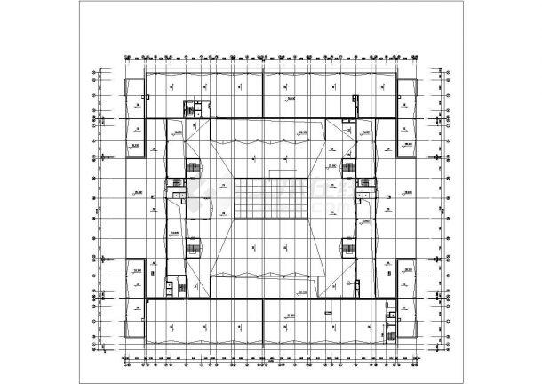 上海某商业街1.4万平米6层框架结构百货商场平面设计CAD图纸(含地下层)-图一