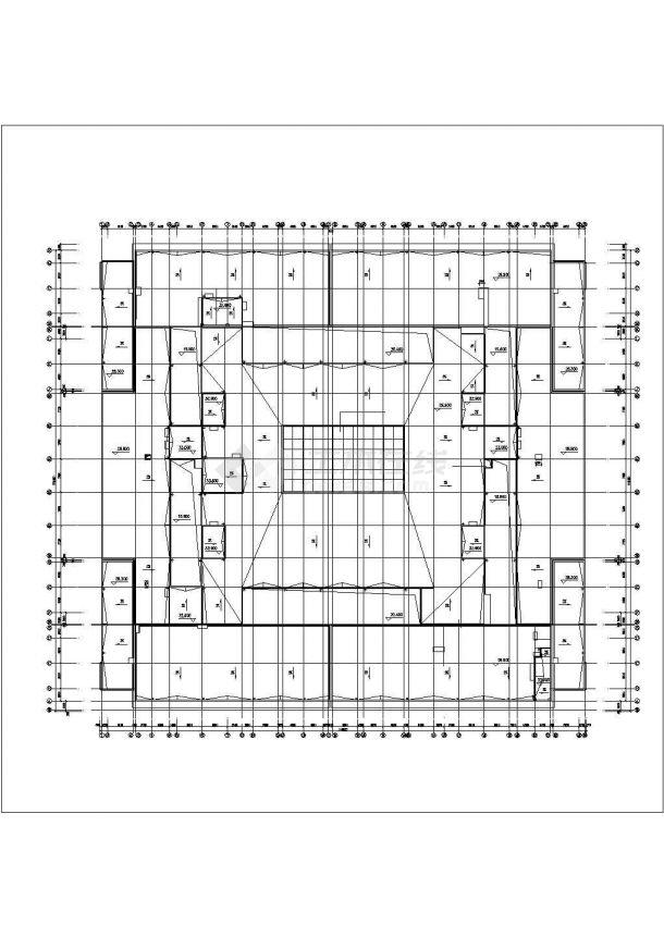 上海某商业街1.4万平米6层框架结构百货商场平面设计CAD图纸(含地下层)-图二