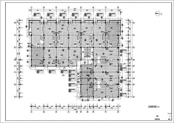 某繁华商业街地暖设计cad全套施工图(含设计说明)-图一