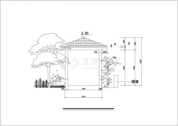 某私人高档住房屋顶园林建筑方案设计图-图二