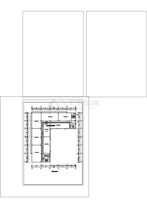 某五层办公楼电气CAD建筑设计施工图-图二