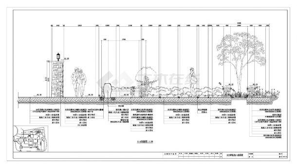 某国际社区样板区B125栋环境景观设计施工cad图纸-图一