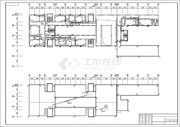 某地区高层办公楼电气设计施工方案CAD图纸-图一