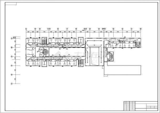 某地区高层办公楼电气设计施工方案CAD图纸-图二