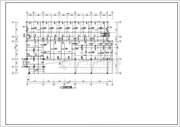 某地区六层框架结构办公楼结构设计施工方案CAD图纸-图二