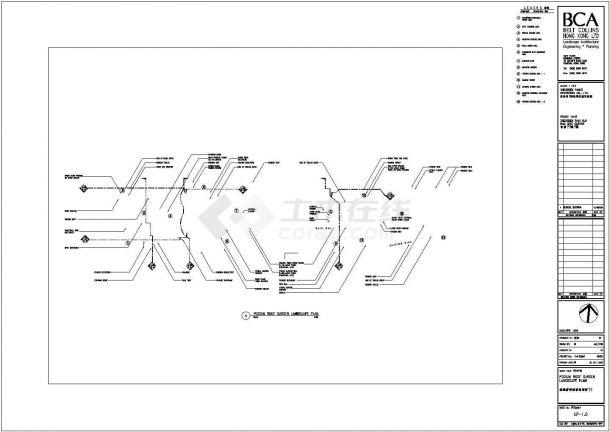 东莞东城金月湾花园小区其他景观施工设计cad图纸-图一