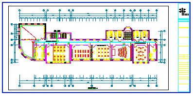 某地区四层学校幼儿园电气cad设计施工图图纸-图二