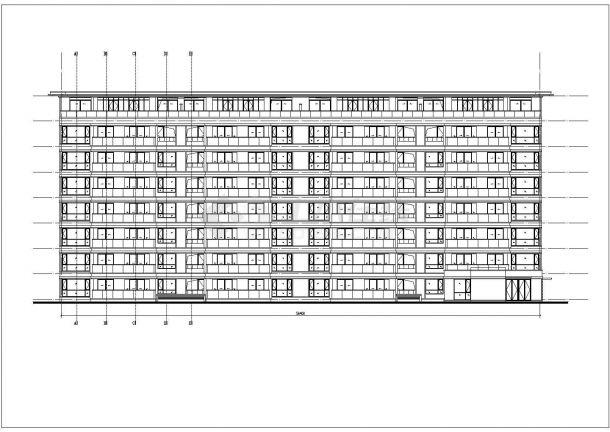某5324㎡五层办公楼毕业设计CAD建筑设计施工图-图一