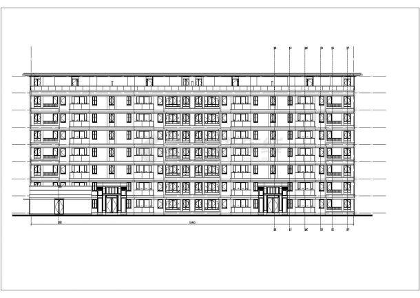 某5324㎡五层办公楼毕业设计CAD建筑设计施工图-图二