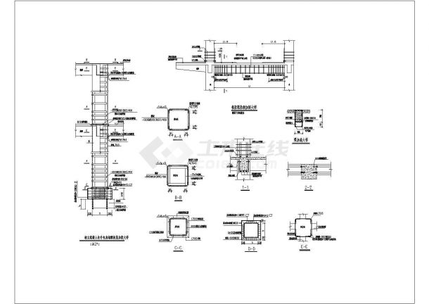 年间某精品五层框架结构教学楼加固设计cad图-图一