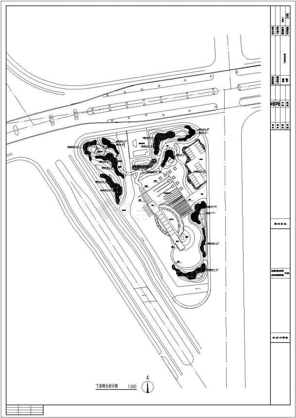 江苏苏州某绿地公园全套景观设计施工cad图(含总平面图)-图一