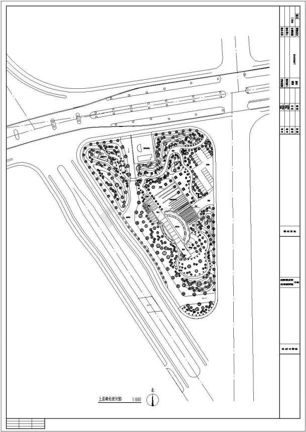 江苏苏州某绿地公园全套景观设计施工cad图(含总平面图)-图二