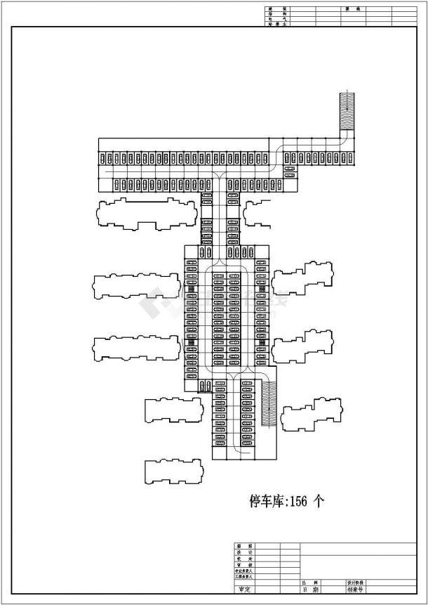 萧山某郊区小区住宅楼全套施工设计cad图纸(含总平面图)-图一