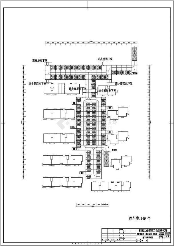 萧山某郊区小区住宅楼全套施工设计cad图纸(含总平面图)-图二