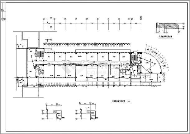 火灾报警系统_某五层教学楼火灾自动报警CAD图纸-图二