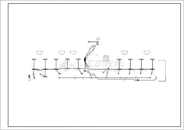 办公楼设计_某地五层办公楼照明电气施工CAD图纸-图一