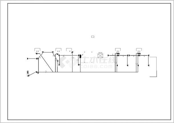 办公楼设计_某地五层办公楼照明电气施工CAD图纸-图二