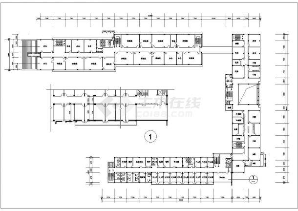 1.4万平米五层框架结构教学楼全套平面CAD设计图纸(含总平面图)-图一