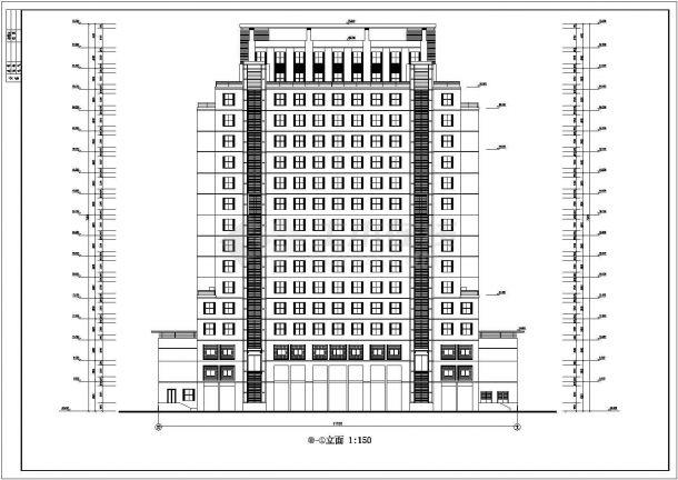 某大学2.2万平米17层框架结构教学实验楼建筑CAD设计图纸-图一