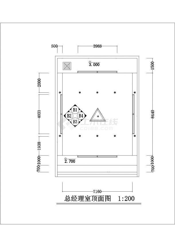 深圳某办公大厦IT办公空间整体装饰设计CAD图纸-图一