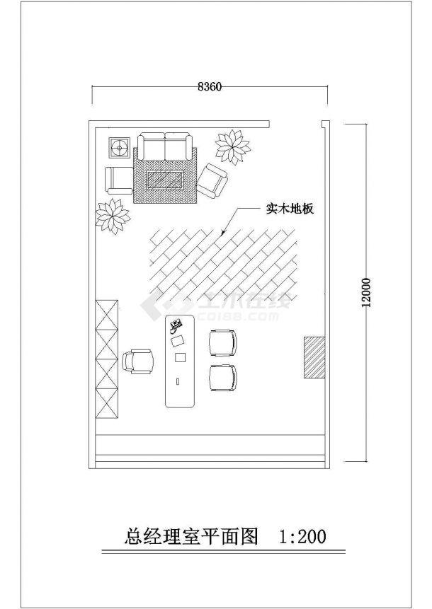 深圳某办公大厦IT办公空间整体装饰设计CAD图纸-图二