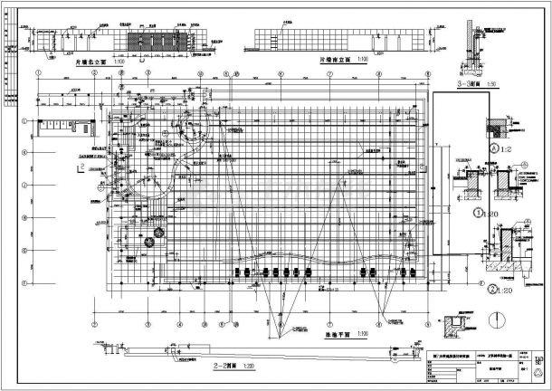 天籁村音乐会所全套建筑施工设计CAD图纸-图二