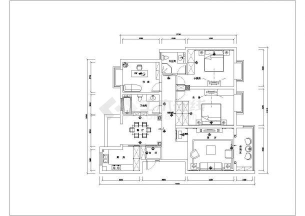 浙江省杭州市某高档住宅小区整体施工设计CAD图纸-图一
