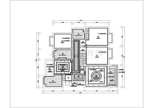 浙江省杭州市某高档住宅小区整体施工设计CAD图纸-图二