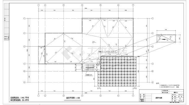 [湖北]某职业技术学院培训中心餐饮中心建筑施工cad图纸-图一