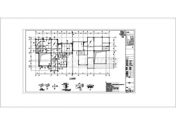 [河南]四层砖混结构别墅结构建筑设计施工图?-图一