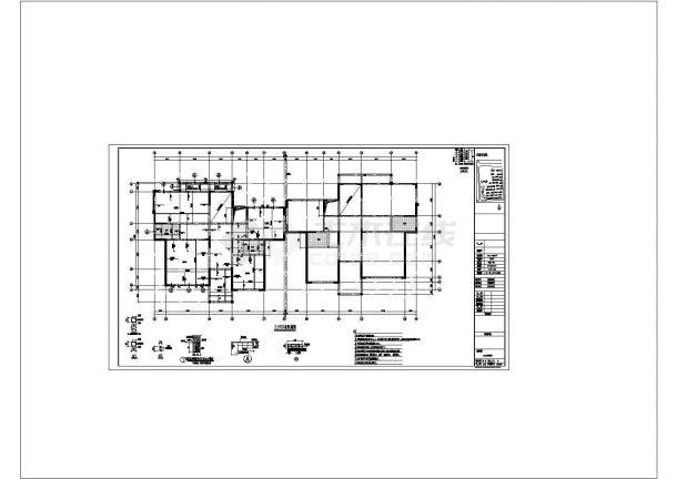 [河南]四层砖混结构别墅结构建筑设计施工图?-图二