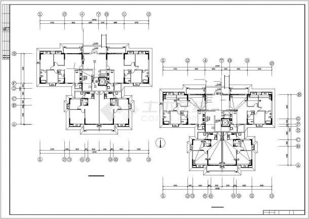 某高层住宅小区水电设计施工方案CAD图纸-图二