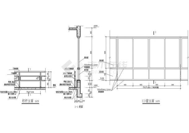 某高层住宅小区大样设计施工方案CAD图纸-图一