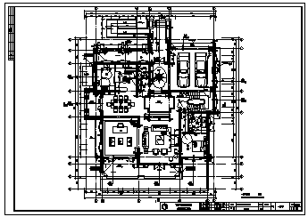 住宅楼设计_600平米某2层乡村欧式豪华独栋住宅楼建筑施工cad图,含效果图-图一