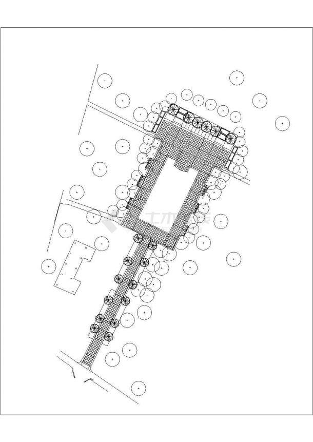 武汉某公园景观规划全套设计cad图(含总平面图)-图一