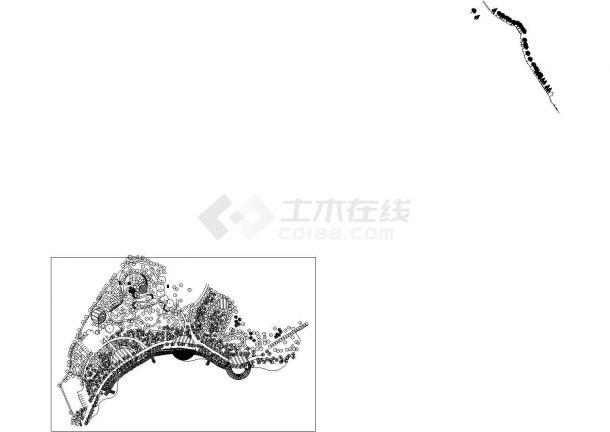 武汉某公园景观规划全套设计cad图(含总平面图)-图二