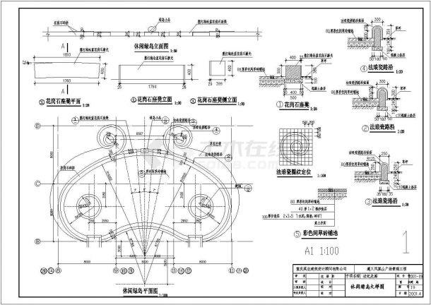 遵义某凤凰山广场景观设计全套施工cad图-图一